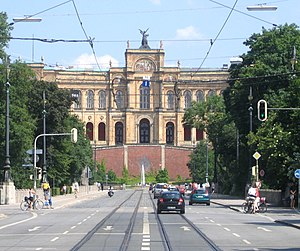 Maximilianstraße (Munich) - Maximilianeum.