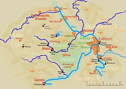 karta koblenz Neuwieder Becken – Wikipedia karta koblenz