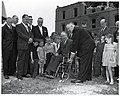 Mayor John F. Collins with group of unidentified men and children at unidentified groundbreaking ceremony (10926389374).jpg