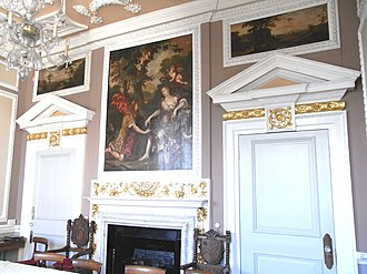 Stowe, Kilkhampton - The Mayor's Parlour, The Guildhall, South Molton, Devon. The room was originally in Stowe House and was acquired for incorporation into the South Molton Guildhall designed 1739–41