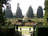 Maze on the site of the Great Conservatory, Chatsworth - geograph.org.uk - 403132.jpg