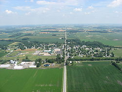 Aerial view of McGuffey from the south
