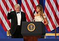 Melania Trump speaking at Armed Services Ball with Donald Trump 01-20-17.jpg