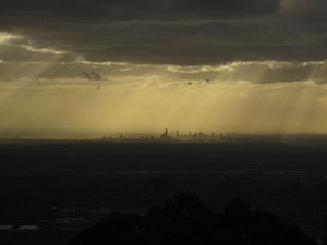 Mount Dandenong (Victoria) - View of Melbourne from the summit at dusk