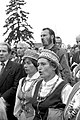 Members of the choir of the Exile Club of the Švenčionėliai Culture House sing during a celebration in memory of the post-war resistance, 1990.jpg