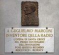 Memorial plaque in honor of Guglielmo Marconi in the Basilica Santa Croce, Florence. Italy.jpg