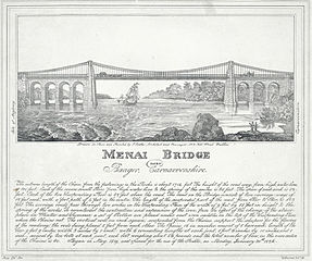 Menai Bridge: near Bangor, Carnarvonshire