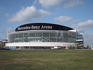 Mercedes-Benz Arena (Berlin) - Image: Mercedes Benz Arena Berlin August 2015