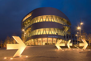 Caroline Bos - Mercedes-Benz Museum at night