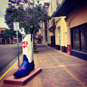 Mercedes, Texas - One of many cowboy boots displayed throughout Mercedes