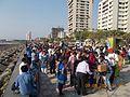 Mercury transit observation -The public at Worli Sea Face in Mumbai..JPG