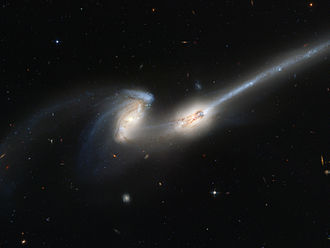 Mice Galaxies - The Mice Galaxies, NGC 4676A (right)/NGC 4676B (left)