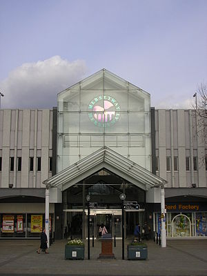 Merseyway Shopping Centre - The centre's main entrance from Mersey Square
