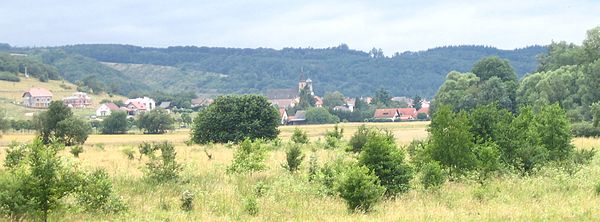 Merxheim, north side, seen from Monzingen