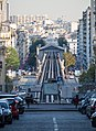 Metro tracks down steep hill, Paris 24 September 2016.jpg