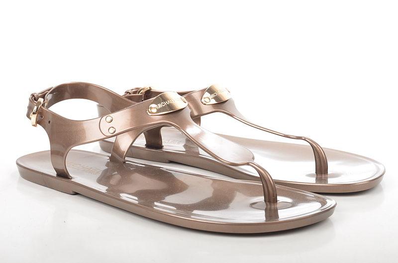 file michael kors mk plate jelly zehentrenner sandale 40s0plfa2q lackoptik bronze 1. Black Bedroom Furniture Sets. Home Design Ideas
