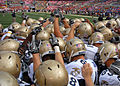 Midshipmen in huddle at Navy at Maryland 2010-09-06.JPG