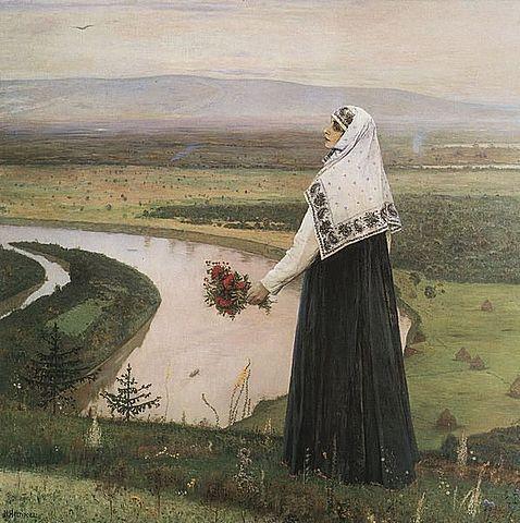 М. В. Нестеров. На горах. 1896, Киевский музей русского искусства
