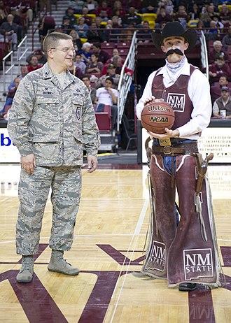 Pistol Pete (New Mexico State University Athletics) - Pistol Pete at NMSU Military Appreciation Night