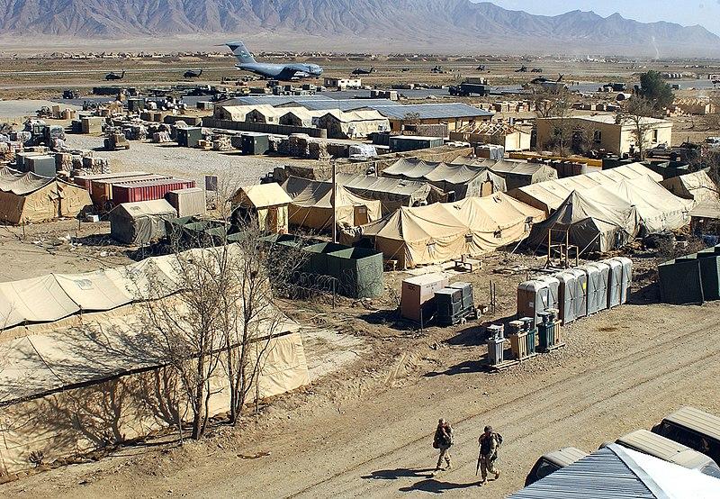 File:Military camp at Bagram, Afghanistan.jpg