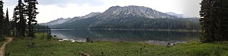 Minam Lake - Image: Minam Lake, Flickr pano