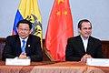 Ministro de Relaciones Exteriores Comercio e Integración Ricardo Patiño se reunió con el Ministro de Comercio de China Chen Deming (8034344570).jpg