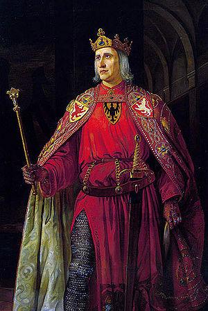 English: Rudolf I of Habsburg. Oil, canvas.