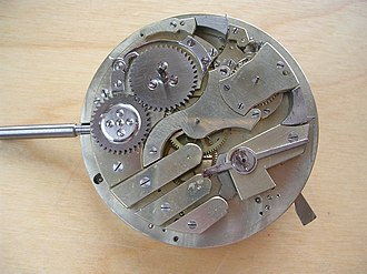 Repeater (horology) - Image: Minute Repeater Ebauche back side