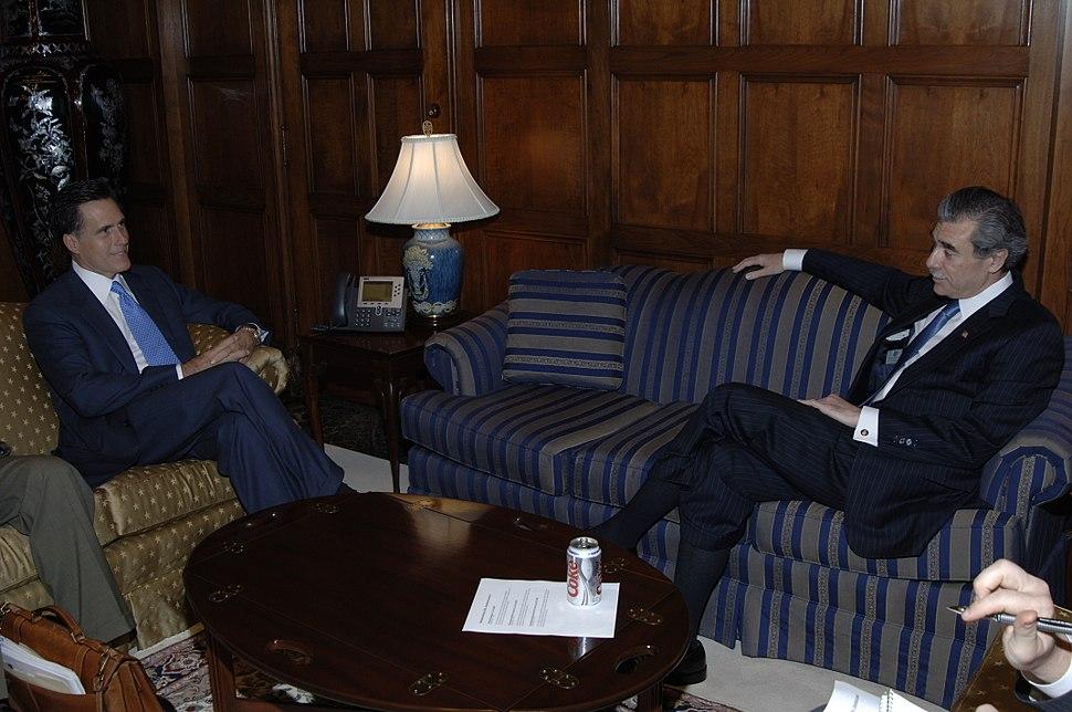 Mitt Romney with Carlos Gutierrez