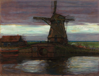 Mondrian - Stammer Mill with Streaked Sky, 1905-1907.png