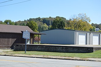 Jefferson, Greene County, Pennsylvania - Site of the former Monongahela College on Pennsylvania Route 188