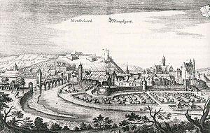 Montbéliard - View of Montbéliard – Mümpelgart, c. 1600.