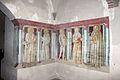 Monte oliveto maggiore, passaggio tra chiostro e chiesa, ignoto senese, padri eremiti, 1440 (attr. giovanni di paolo).JPG