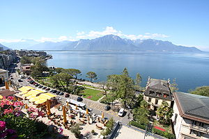 Montreux - Lake Geneva from Montreux