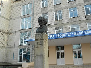 bust of Mihai Eminescu