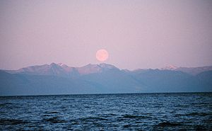 Chatham Strait - Moonrise in Chatham Strait