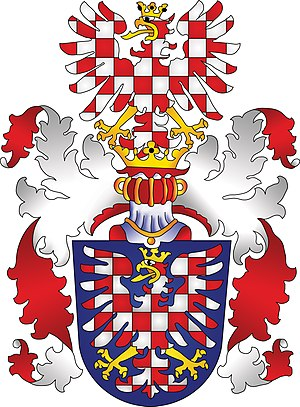 Coat of arms of the Czech Republic - Image: Moravská orlice s klenotem