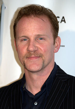 Morgan Spurlock at the premiere of the Woody A...