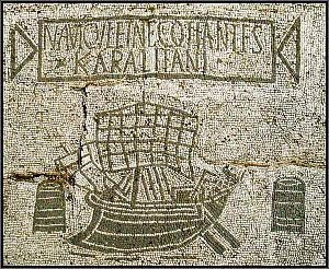 Cagliari - Karalitan ship owners and traders, mosaic in Ostia Antica
