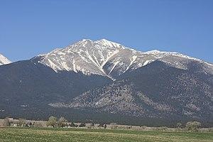 Mount Antero - Mt. Antero seen from U.S. 285.