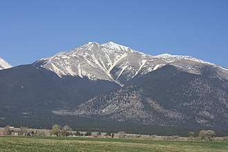 Mount Antero - Mt. Antero seen from U.S. 285.