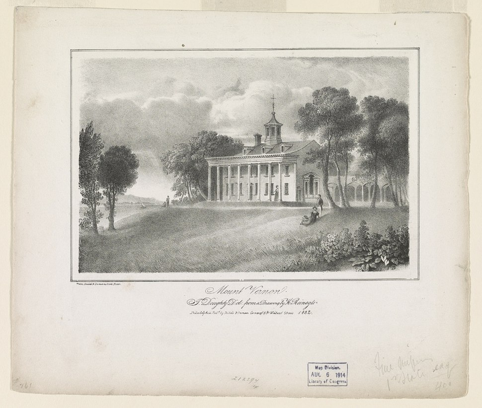 Mount Vernon - T.D. ; T. Doughty del. from a drawing by H. Reinagle. LCCN93510718