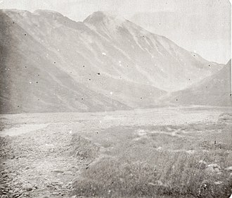 Terek River - Mountain Zilgi-Khokh and source of the River Terek in 1886.