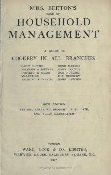 Mrs. Beeton's Book of Household Management (Part 1).djvu