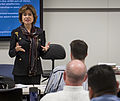 Ms. Maria Contreras-Sweet visited with Air Force members attending a Boots to Business class.jpg