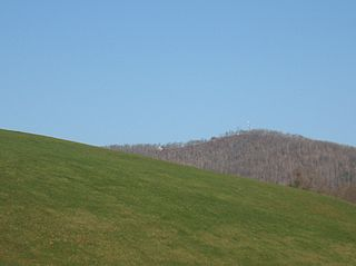 Woodys Knob mountain in United States of America