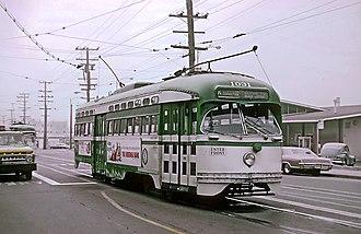 K Ingleside - A PCC Streetcar on K Ingleside in 1967