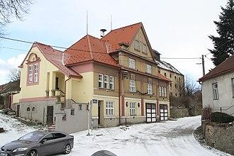 Biskupice-Pulkov - Image: Municipal office in Biskupice Pulkov in 2015, Biskupice Pulkov, Třebíč District
