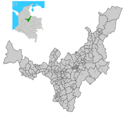 Location of the municipality and town of Firavitoba in the Boyacá Department of Colombia.