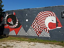 Mural by Fefe Talavera in East Atlanta on Flat Shoals Ave.